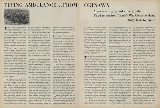 Article Preview: Flying Ambulance...from Okinawa, August 1 1945 | Vogue