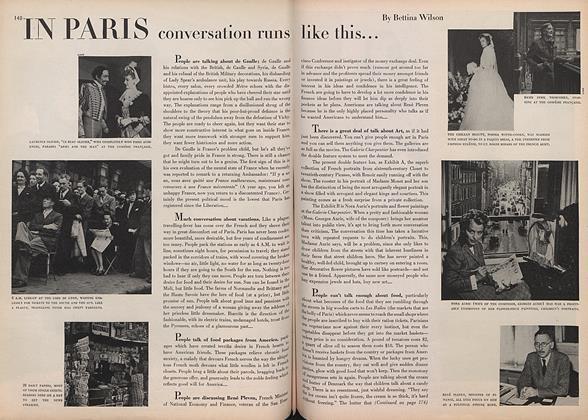 In Paris: Conversation Runs Like This...