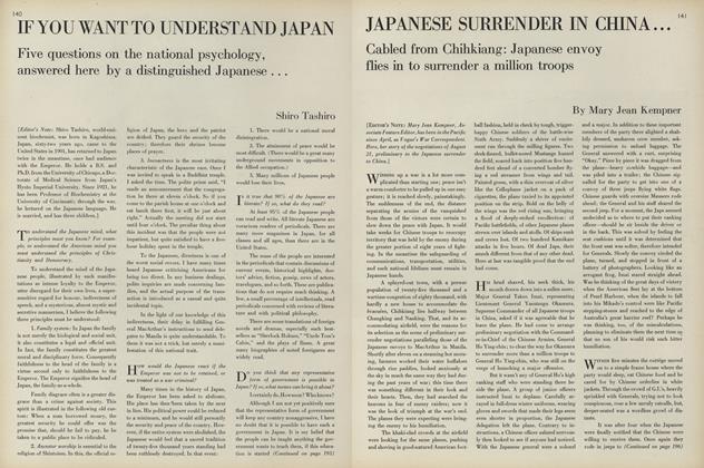Japanese Surrender in Japan