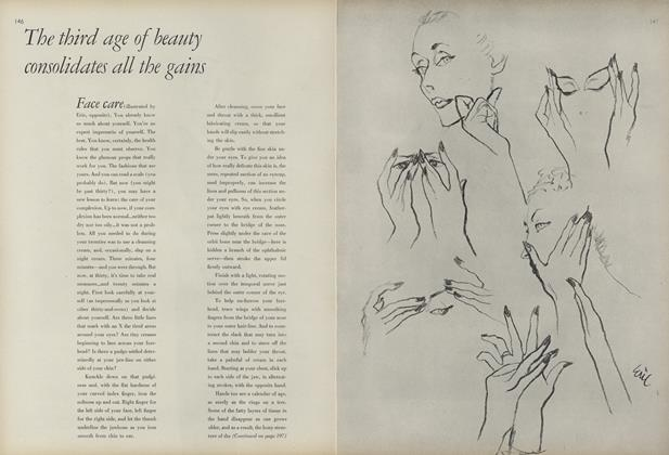 Article Preview: The Third Age of Beauty Consolidates All the Gains, November 1 1945 | Vogue