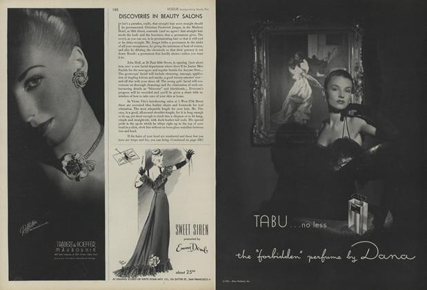 Article Preview: Discoveries in Beauty Salons, November 1 1945 | Vogue
