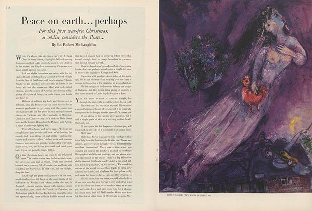 Article Preview: Peace on Earth...Perhaps, December 1 1945 | Vogue