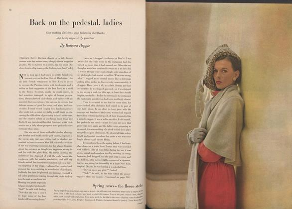 Article Preview: Back on the Pedestal, Ladies, January 15 1946 | Vogue