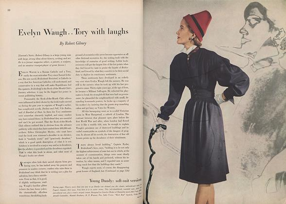 Article Preview: Evelyn Waugh...Tory with Laughs, January 15 1946 | Vogue