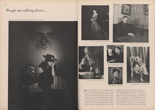 "Gertrude Lawrence and Raymond Massey in ""Pygmalion""/Jennie Tourel..."