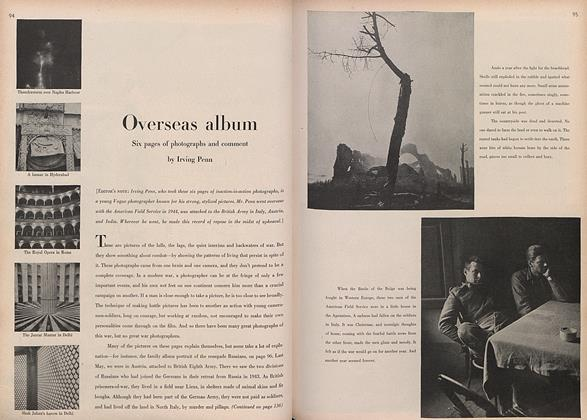 Article Preview: Overseas Album: Six Pages of Photographs and Comment, February 15 1946 | Vogue