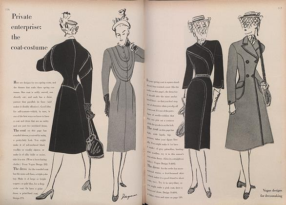 Article Preview: Private Enterprise: The Coat-Costume, February 15 1946 | Vogue