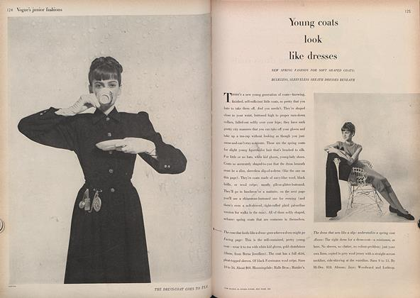 Article Preview: Young Coats Look Like Dresses, February 15 1946 | Vogue