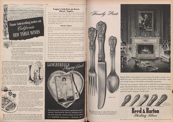 Article Preview: Vogue's 11th Prix de Paris Thesis Topics, February 15 1946 | Vogue