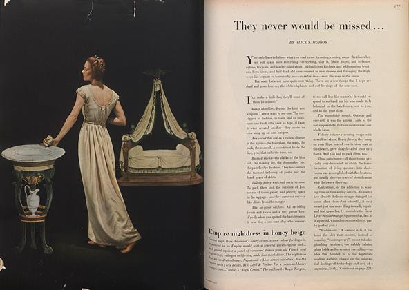 Article Preview: They Never Would be Missed..., March 1 1946 | Vogue