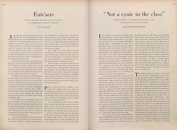 "Article Preview: ""Not a Cynic in the Class"", March 1 1946 