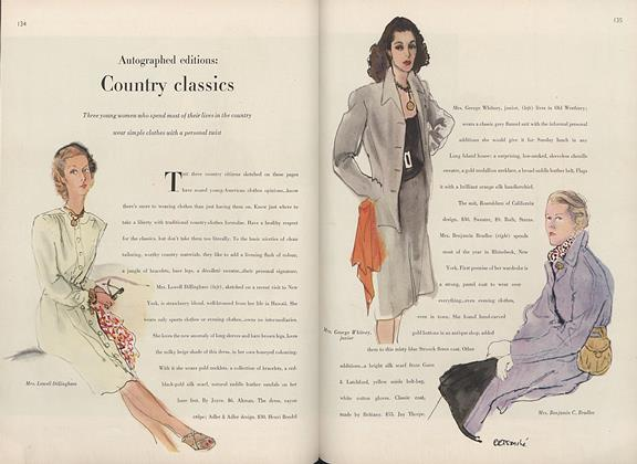 Autographed Editions: Country Fashions