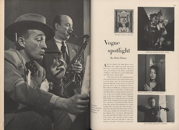 Edward Stevens/Peruvian Singers at Blue Angel...