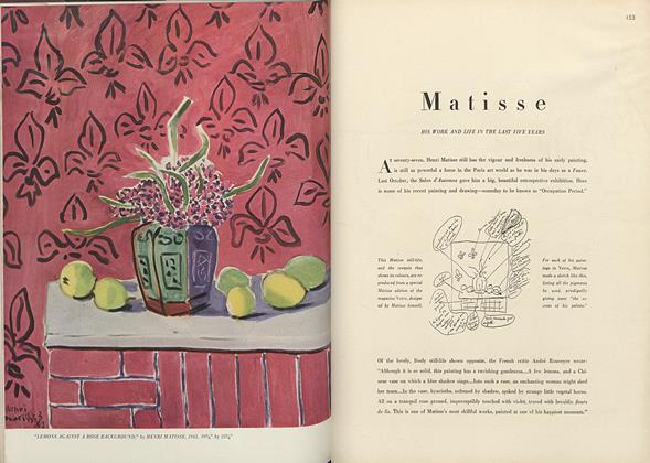 Matisse: His Work and Life in the Last Five Years