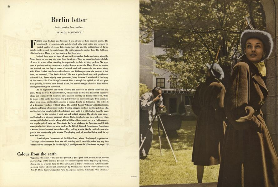Berlin Letter: Ruins, Parties, Hats, Soldiers