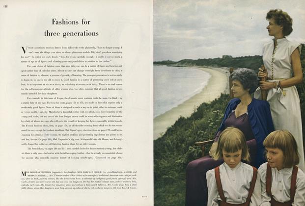 Fashions for Three Generations