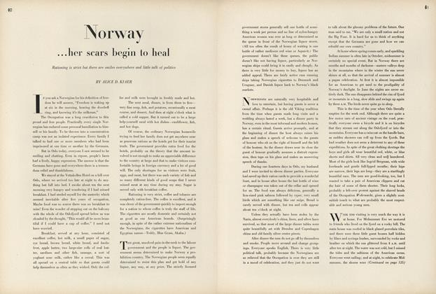 Norway...her scars begin to heal