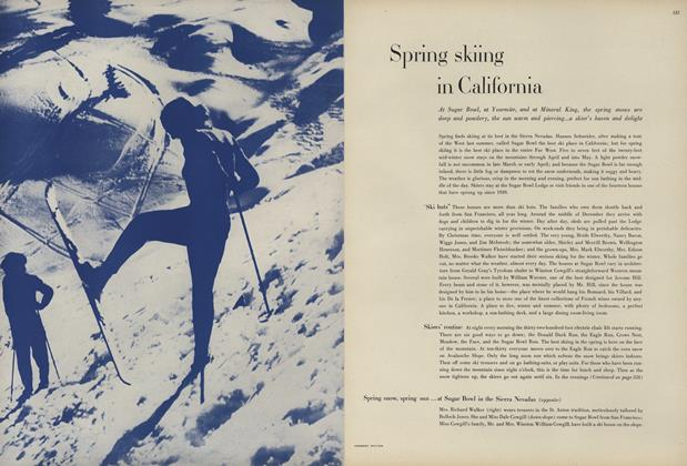 Spring Skiing in California