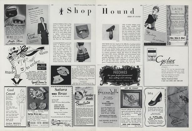 Shop Hound: Bird In Hand