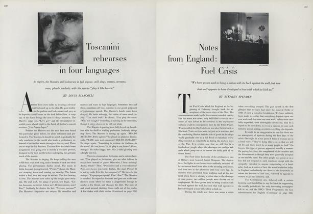 Toscanini Rehearses in Four Languages