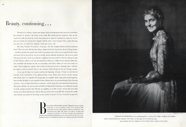 Article Preview: Beauty, Continuing: Baroness Eric de Rothschild, May 1 1947 | Vogue