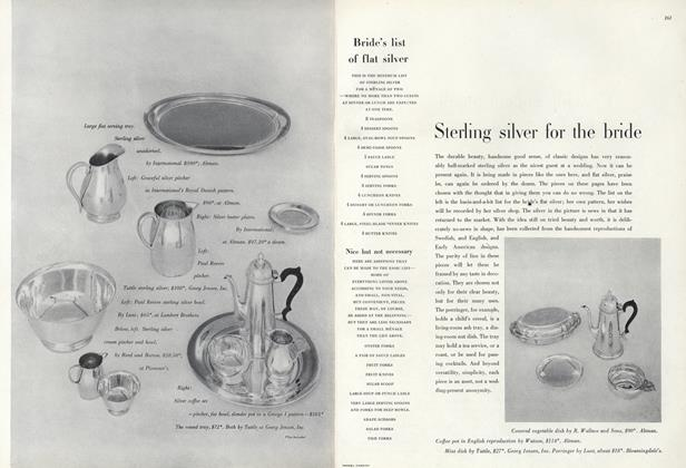 Article Preview: Sterling Silver for the Bride/Bride's List Flat Silver, May 1 1947 | Vogue