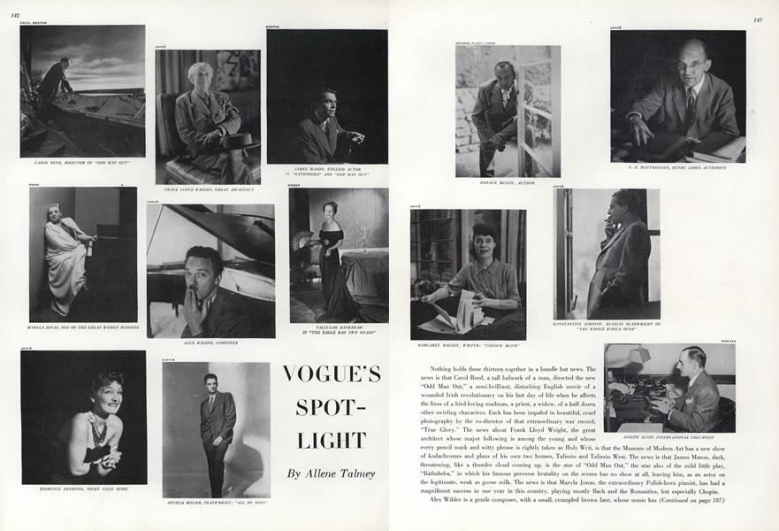 Carol Reed/Frank Lloyd Wright...