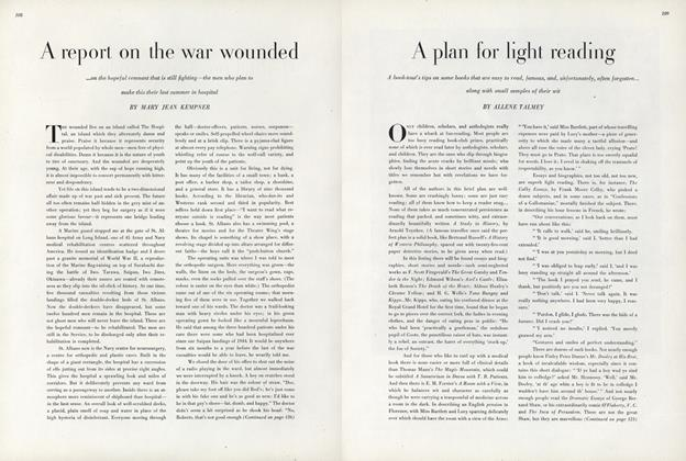 A Report on the War Wounded