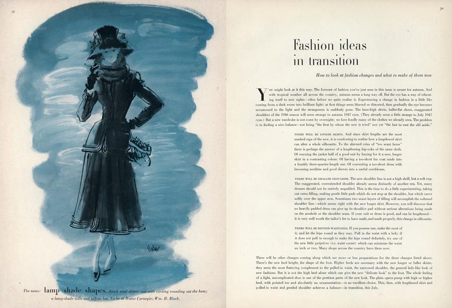 Fashion Ideas in Transition
