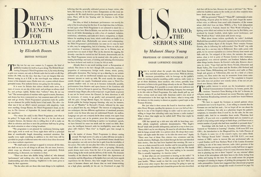 U.S. Radio: The Serious Side