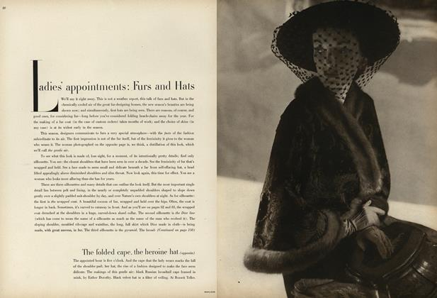Ladies' Appointments: Furs and Hats