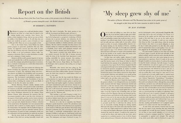 ''My Sleep Grew Shy of Me''