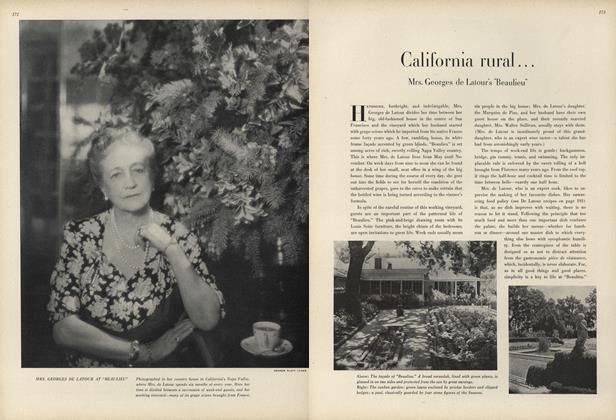 California Rural... Mrs. Georges de Latour' ''Beaulieu''