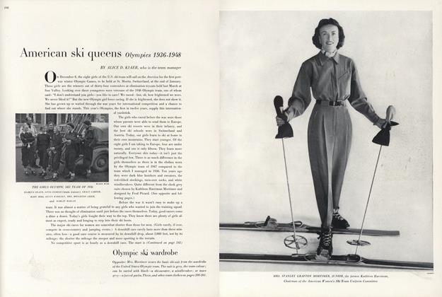 American Ski Queens Olympics 1936-1948