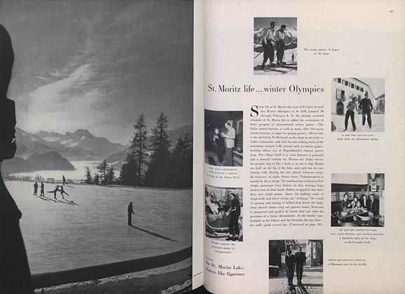St. Moritz Life...Winter Olympics