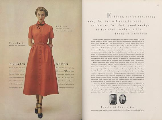 Stamped American—Fashions Cut by the Tens of Thousands