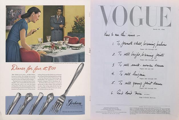 Article Preview: Vogue, March 15 1948 | Vogue