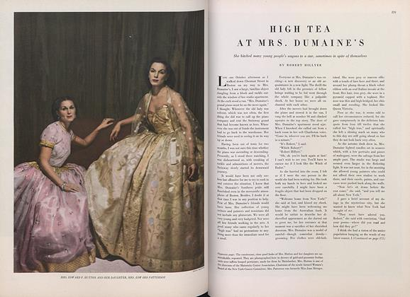 Article Preview: High Tea at Mrs. Dumaine's, March 15 1948 | Vogue