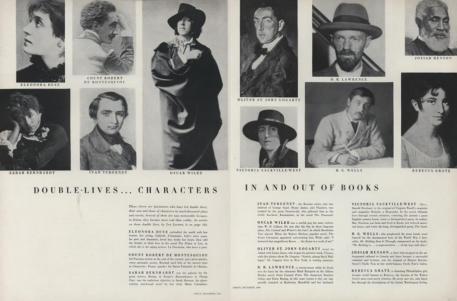 Double-Lives...Characters In and Out of Books