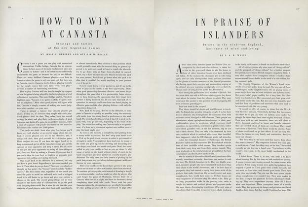 Article Preview: In Praise of Islanders: Straws in the Wind — on England, Her State of Mind and Being, April 1 1949 | Vogue