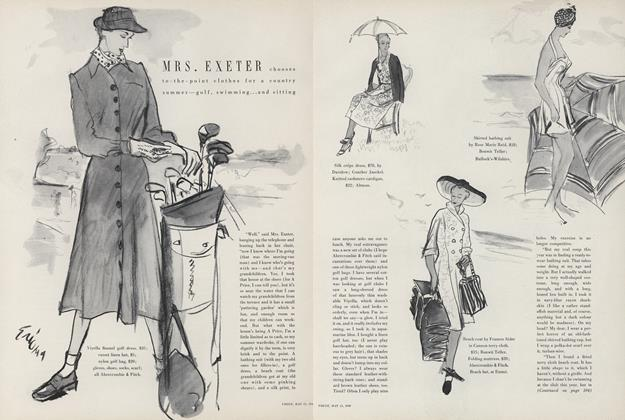Mrs. Exeter Chooses to-the-point Clothes for a Country Summer—Golf, Swimming, and Sitting