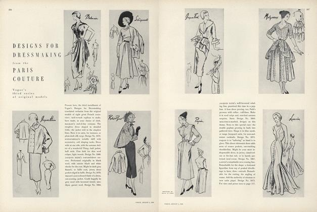 Designs for Dressmaking from the Paris Couture