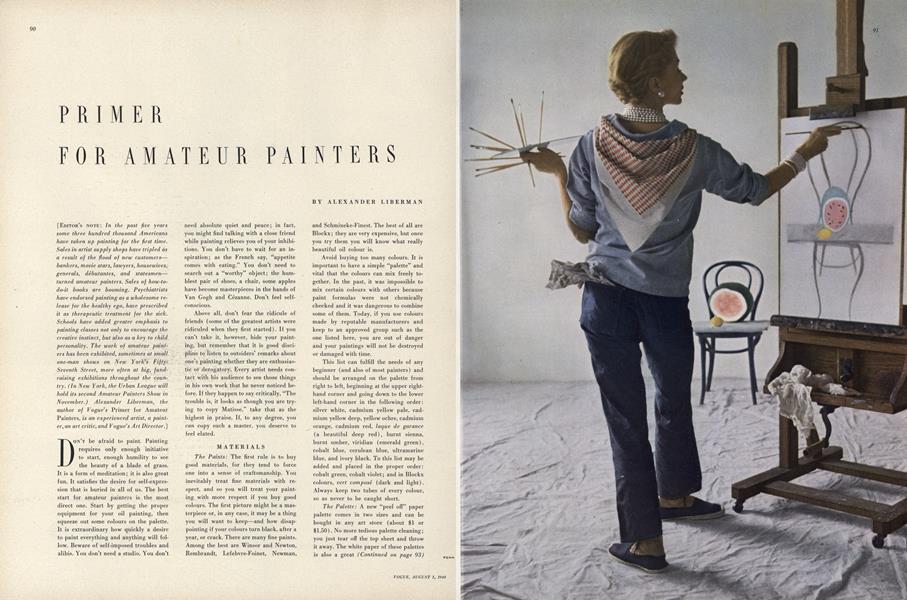 Primer for Amateur Painters