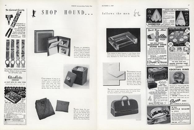 Shop Hound...Follows the Men