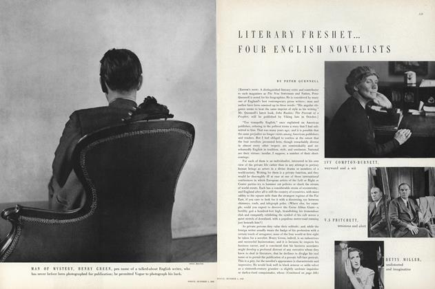 Literary Freshet...Four English Novelists