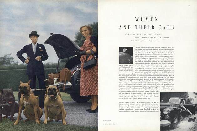 Article Preview: Women and Their Cars, October 15 1949 | Vogue