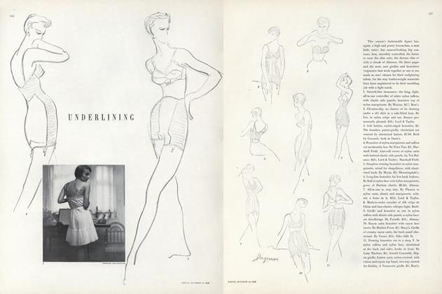 Article Preview: Underlining, October 15 1949 | Vogue