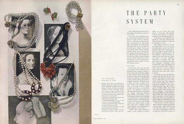 Article Preview: The Party System, November 1 1949 | Vogue