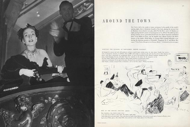 Article Preview: Around the Town, November 1 1949 | Vogue