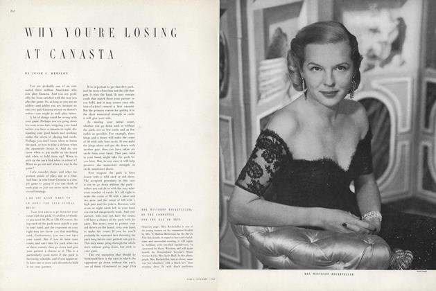 Article Preview: Why You're Losing at Canasta, November 1 1949 | Vogue